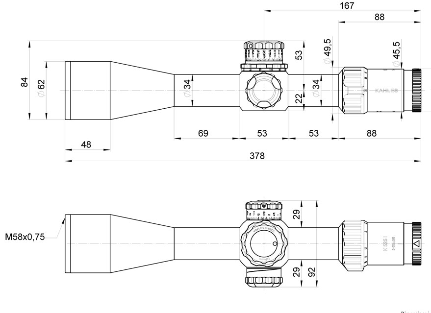 KAHLES卡勒斯瞄准镜K525i 5-25x56i 奥地利顶级原装进口高倍率前置狙击*瞄